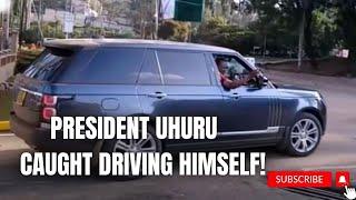 PRESIDENT UHURU KENYATTA DRIVING HIMSELF TO STATEHOUSE