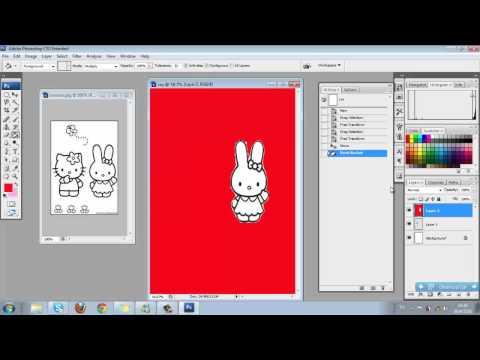 การวาดรูปและลงสีใน Photoshop