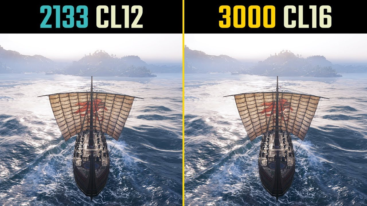 Assassin's Creed Odyssey 2133MHz CL12 vs  3000MHz CL16 (RAM Speed Test)