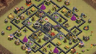 GOWIHOG / GOHOG - Clash of Clans - Attaque sur HDV9 100% #051 Gameplay