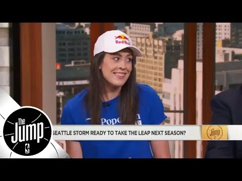 WNBA All-Star Breanna Stewart shoots down Tracy McGrady's idea of lowering basket | The Jump | ESPN