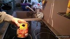 Dosen-Spaghetti/der Test