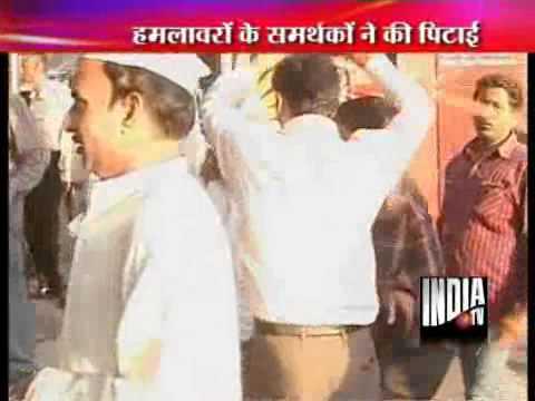 Sri Ram Sene Activists Attack Anna Supporters