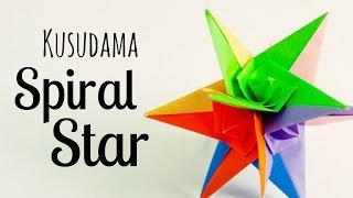 origami Spiral star instructions (Grzegorz Bubniak)