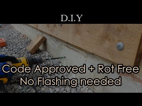 DIY Deck (Part 3): How to install code approved ROT FREE Ledger Board brick veneer without flashing?