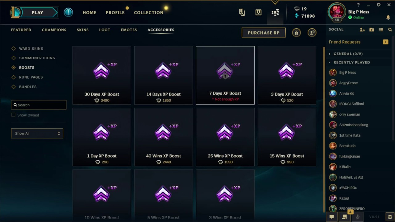 How to buy XP Boosts - League of Legends