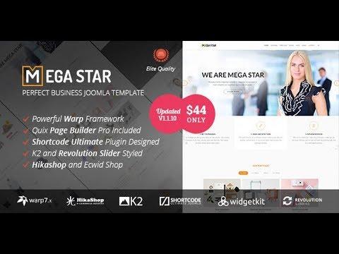 Joomla шаблон Megastar 1.1.7 для любого бизнеса. Обзор и скачать бесплатно