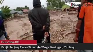 Banjir Terjang Flores Timur NTT, 44 Warga Meninggal