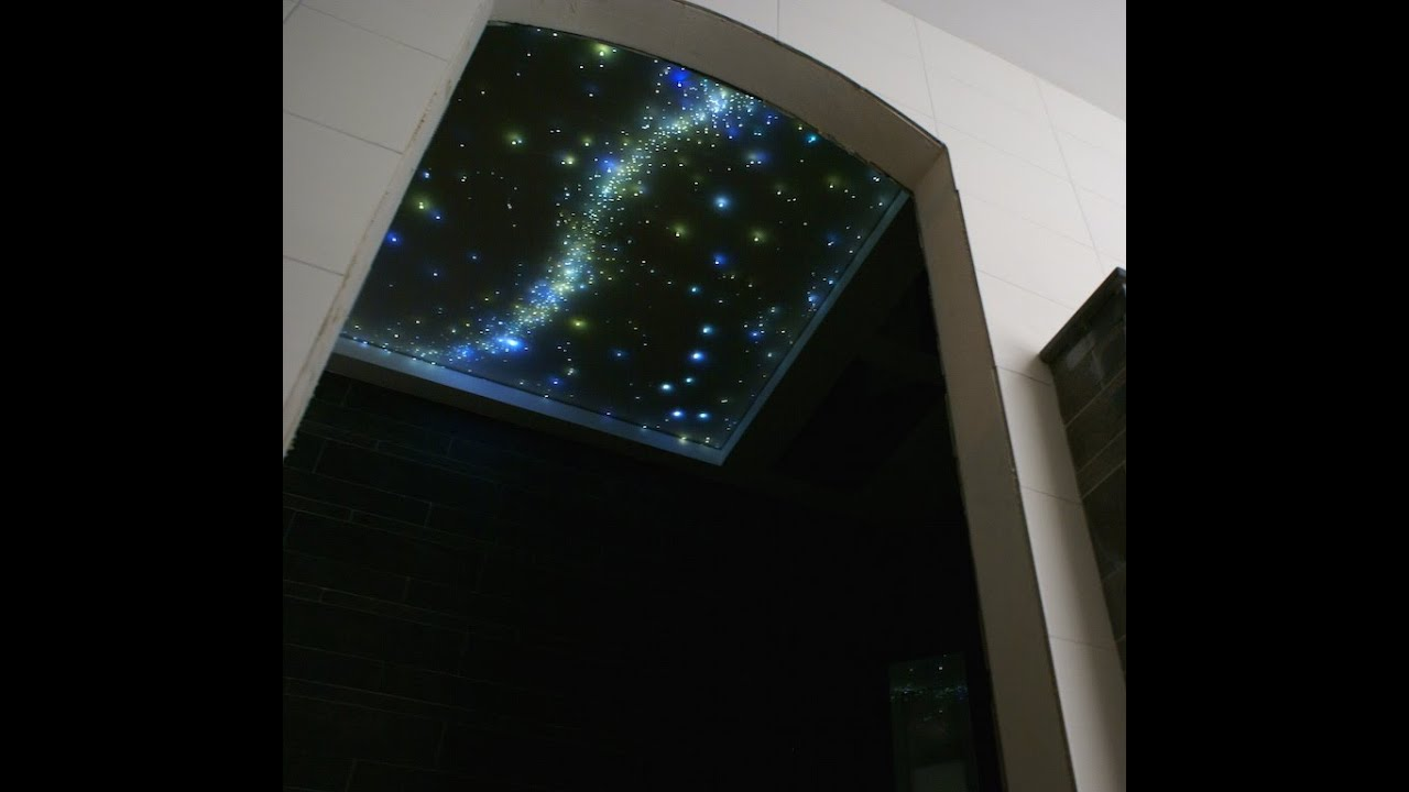 Ciel étoilé Fiber Optic Star Ceiling LED Light Design Bathroom Bedroom  Shooting Starry Night Sky   YouTube