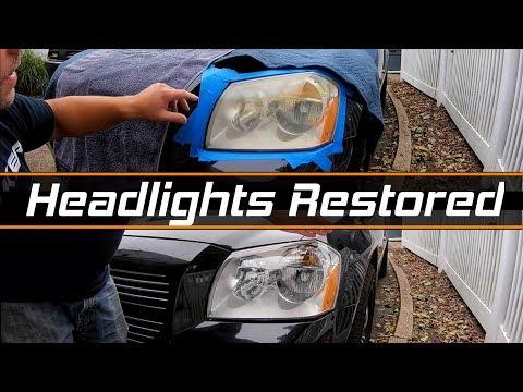 Restoring the Magnum's Yellow Foggy Headlights - 3M Headlight Restoration Kit