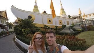 VLOG #25 Бангкок. Храм - лодка. Asiatique. Колесо обозрения. Рыбки - щекотухи. Корейский ресторан.(Всем привет! Спасибо за просмотр :) Лайкайте, подписывайтесь, делитесь видео, а мы - будем и дальше делиться..., 2015-01-14T07:20:15.000Z)