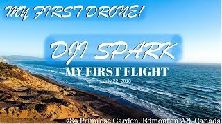 MY FIRST DRONE FLIGHT with DJI SPARK