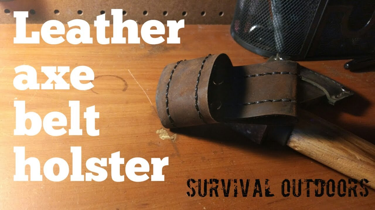 diy axe leather belt holster youtube