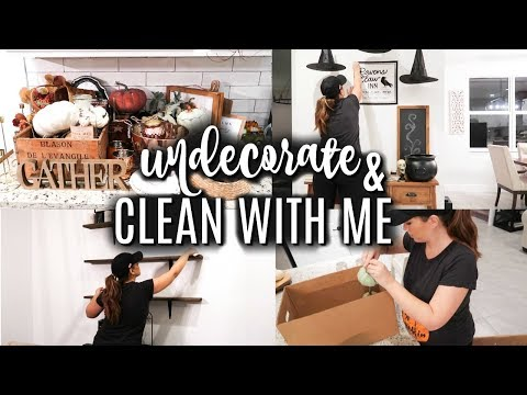 EXTREME CLEAN WITH ME 2019 // RELAXING NIGHT TIME CLEANING ROUTINE // UNDECORATE WITH ME