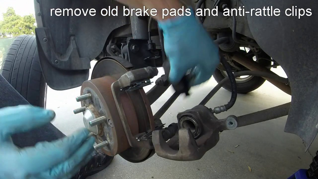 2017 Hyundai Santa Fe >> 2008 Hyundai Tucson Rear Brake Pad Replacement - YouTube