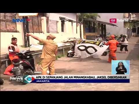 Capres Cawapres Masa Tenang, Petugas KPU dan Bawaslu Sibuk Bersihkan APK - LIS 15/04