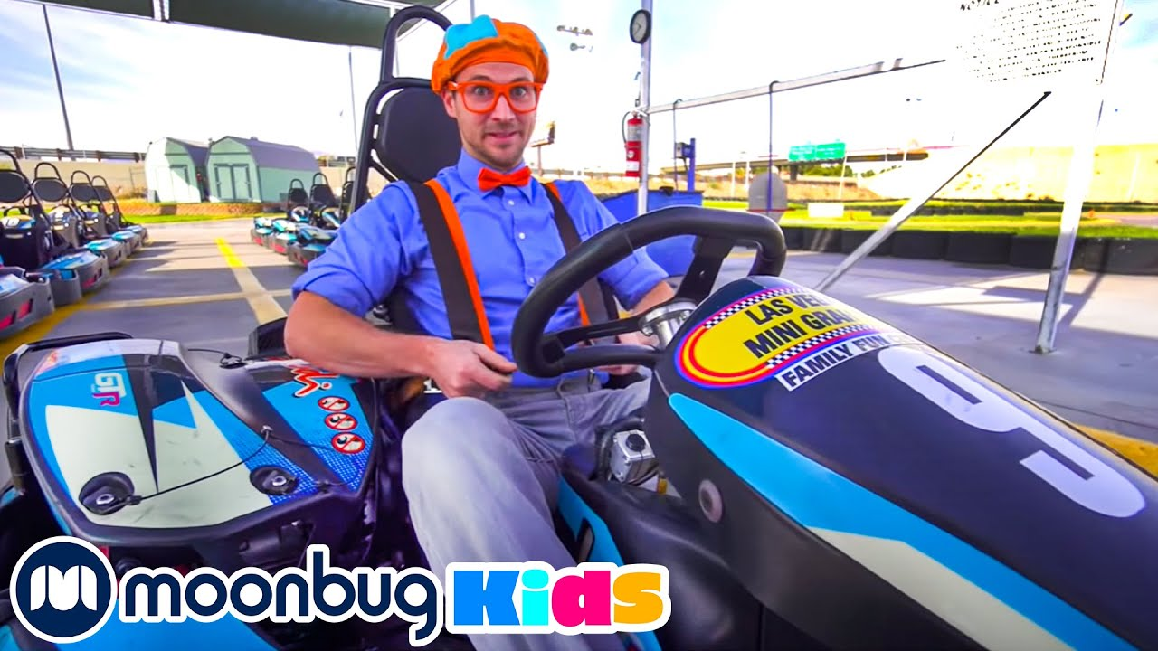 Super Fast Go Karts - Engines and Numbers with Blippi | Blippi Visits | Videos For Children