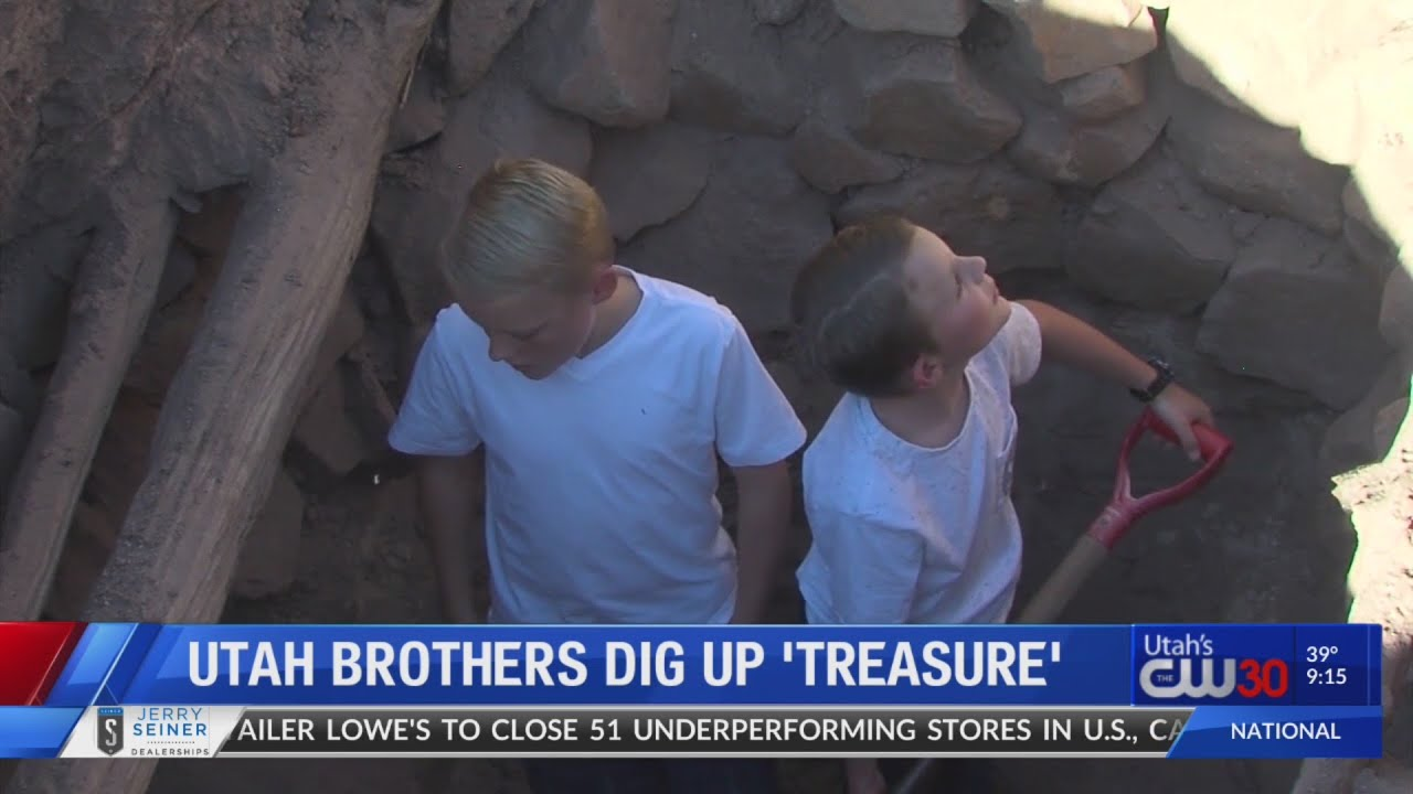 Utah brothers dig up 'treasure'