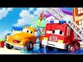 La Manguera Dañada de Frank - Tom la Grúa en Auto City   Dibujos animados para niñas y niños
