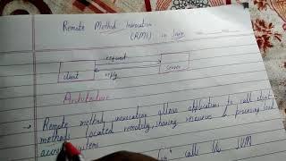 RMI Remote Method Invocation