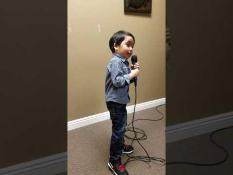 Nathan Singing Italian Song (O SOLE MIO)