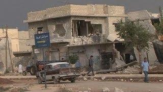 Syrie : Azaz, près de la frontière turque, aux mains des rebelles