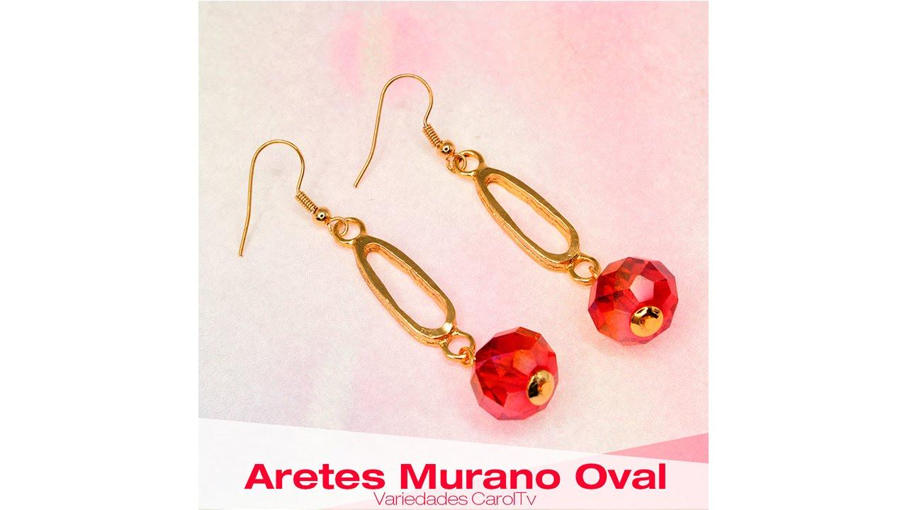 ab844e0e75c2 Cómo hacer Aretes con Murano Rojo y dijes oval Cod: 27169 | Variedades  CarolTv