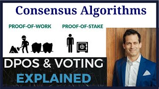 Consensus Algorithms proof of work vs proof of stake vs proof of stake with voting (EOS) vs others