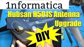 Hubsan H501S Quadcopter Drone Antenna Upgrade - make your own!! Electronic Repair Tutorial