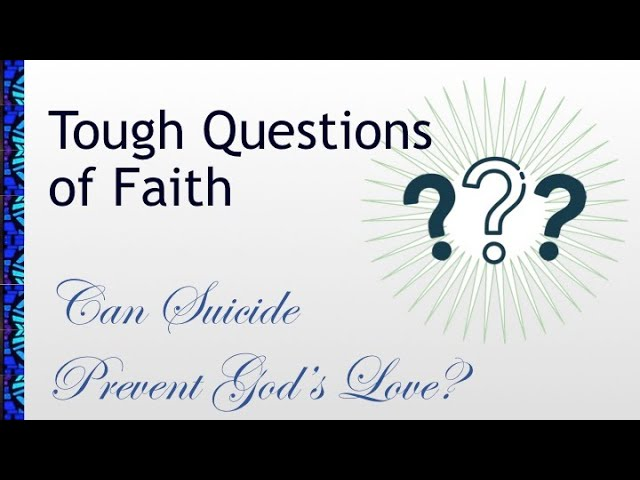 January 17, 2021 Service: Can Suicide Prevent God's Love? (Replay)