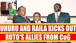 Uhuru Kenyatta and Raila Odinga Kicks Out William Ruto Allies from CoG Leadership. Oparanya Elected