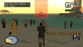 GTA San Andreas - Santa Maria Beach: Beat The Cock! (Triathlon Race 1) - with only 50% Stamina