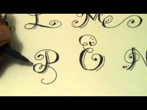 Como hacer Letras Bonitas Fáciles - PARTE 1 - how to make beautiful letters