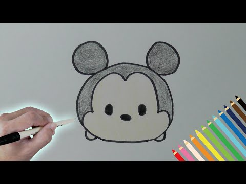 How to draw Mickey Disney Tsum Tsum , YouTube