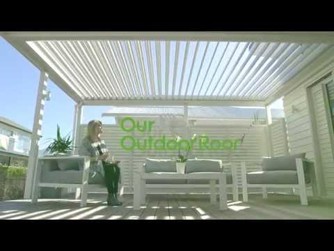 Create an outdoor room - blinds, shutters, opening roof.