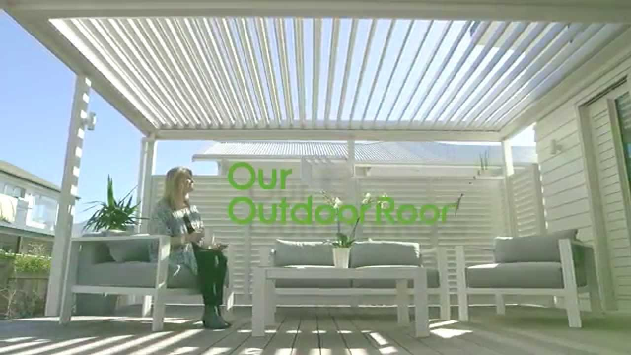 Outdoor Roof Create An Outdoor Room  Blinds Shutters Opening Roof Youtube