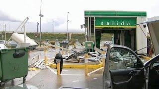 Espagne: une station balnéaire d'Andalousie touchée par une tornade