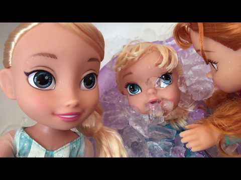 Thumbnail: Bath Freezing Accident ! Elsa & Anna toddlers trapped in ICE Bubble! Elsa Fidget Spinner