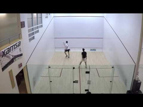 Squash Super 8 match Feb 10, 2017: George Brzozowski-Ryan vs Pranav Sharma