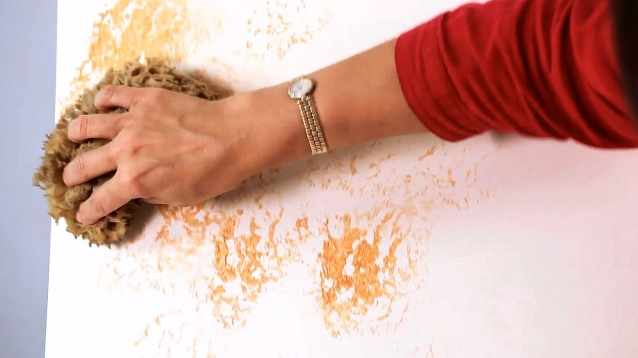 How to sponge paint a wall paint techniques youtube Best paint to use on walls