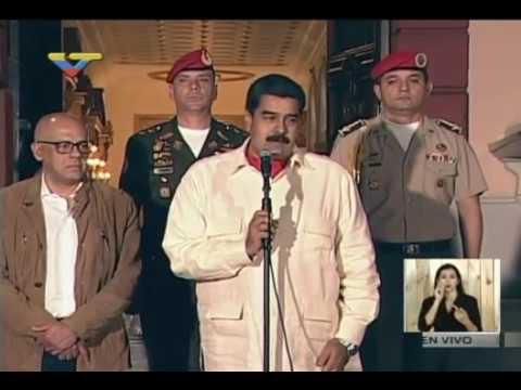 Maduro declara en Miraflores tras reunión con Thomas Shannon y enviado del Papa