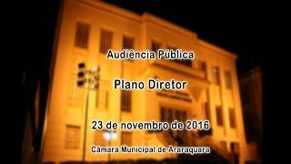 Audiência Pública - Plano Diretor 23/11/2016