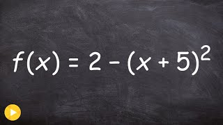 Graphing and describing transformations of a quadratic equation