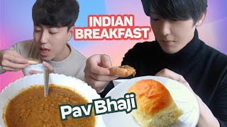 Baixar Koreans reaction to Pav Bhaji | Indian Breakfast Homemade