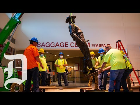 texas-ranger-statue-at-love-field-removed
