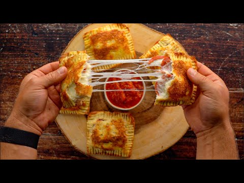 High Protein Pepperoni Pizza Hot Pockets! | Only 200 Calories with 18g Protein!