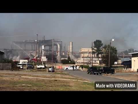 Crossett AR Plywood Mil Fire Aftermath