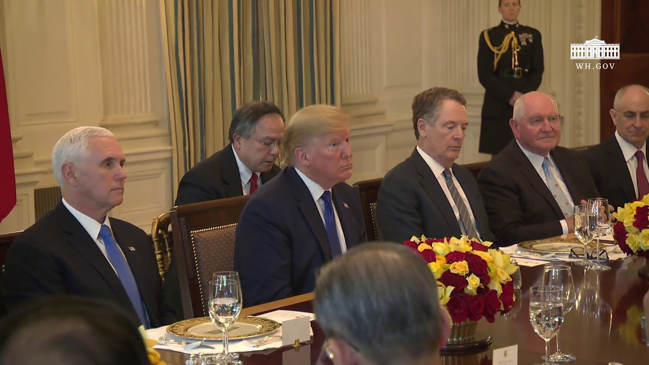 President Trump has lunch with the Vice Premier of the People's Republic of China - THE WHITE HOUSE