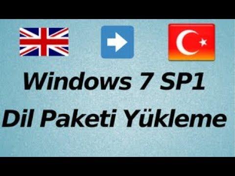 Windows 7 Dil Paketi Indirme Turkce Yapma 100 Calisiyor Youtube
