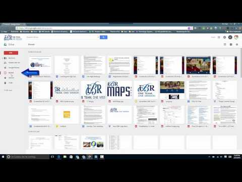 Accessing Recent Files in Google Drive